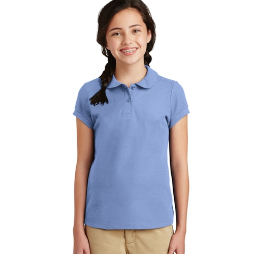 YG503 Port Authority Girls Silk Touch Peter Pan Collar Polo