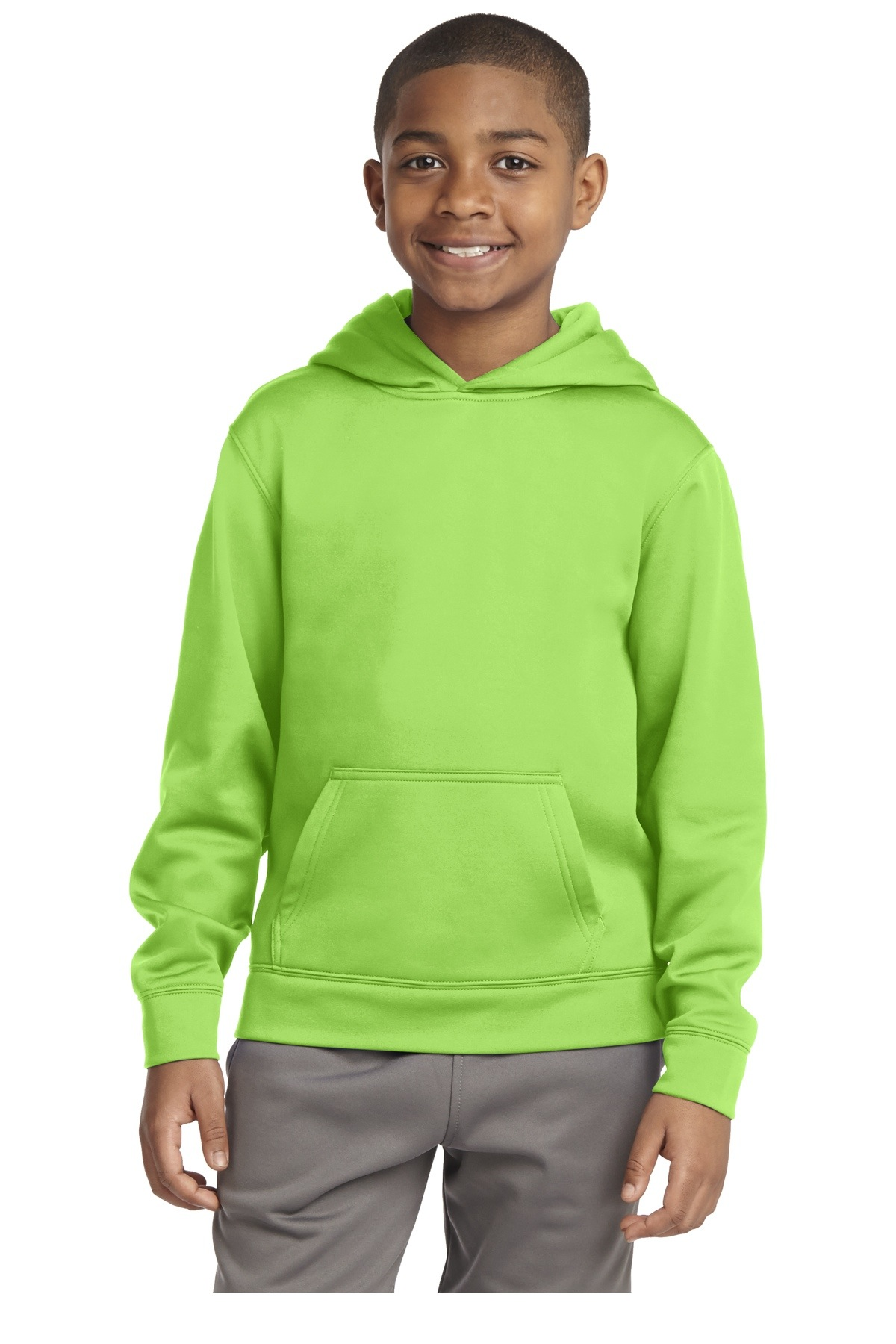 YST244 Sport-Tek Youth Sport-Wick Fleece Hooded Pullover