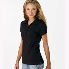 b750 Bella Womens 5.6 oz. Mini Pique S-S Polo