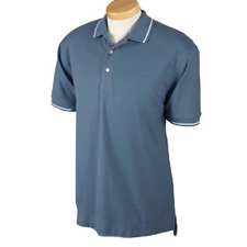 D113 Devon & Jones Men's Pima Piqué Short-Sleeve Tipped Polo