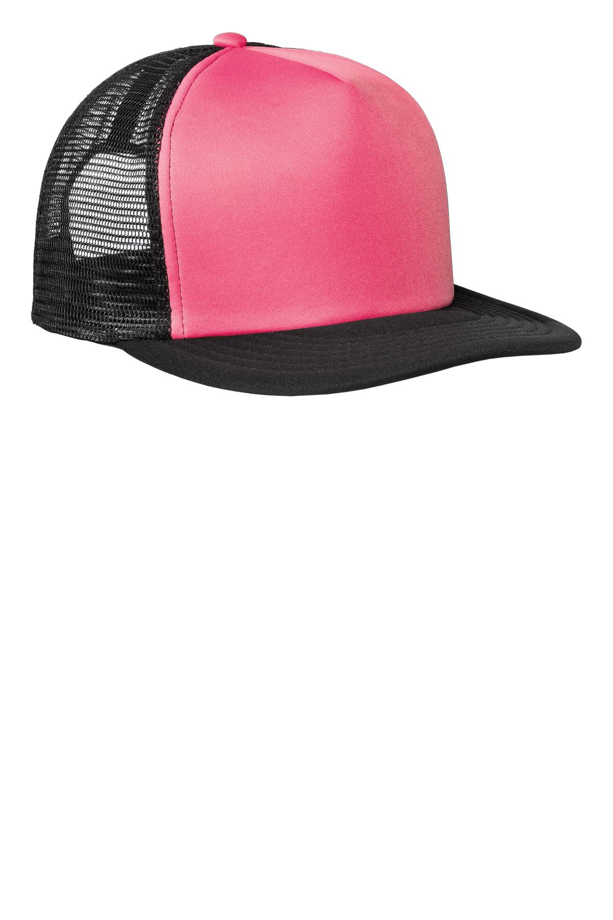 DT624 District® - Flat Bill Snapback Trucker Cap