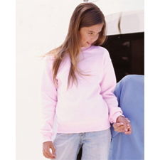 G18000B/ G180b Gildan 50/50 Midweight Ultra Blend™ Youth Crew Neck sweatshirt.