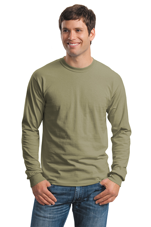 629a2ddc Embroidered 2400 Gildan Ultra Cotton Long Sleeve T Shirt