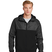 JST50 Sport-Tek Embossed Hybrid Full-Zip Hooded Jacket