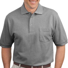K420P Port Authority Pique Knit Polo with Pocket