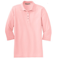 L562 Port Authority® - Ladies Silk Touch™ 3/4-Sleeve Sport Shirt