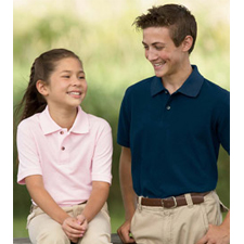 M200Y Harriton 6 oz Cotton Pique Youth Short-Sleeve Polo