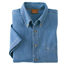 m550s Harriton Men Short Sleeve Denim