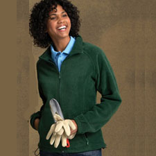 M990W Ladies Harriton Full Zip Fleece