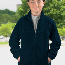 M990y Harriton Youth Full Zip Fleece