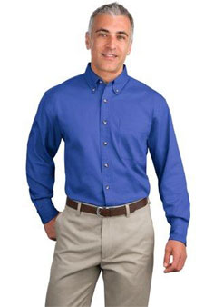 S600T Long Sleeve Port Authority Button Down Twill