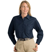 *CLOSEOUT* sp13 Cornerstone Ladies Squared hem Industrial Work Shirt