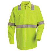 SS14 Red Kap Hi-Visibility Work Shirt - Long Sleeve