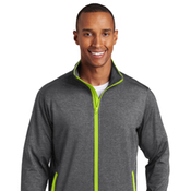ST853 Sport-Tek® Sport-Wick® Stretch Contrast Full-Zip Jacket