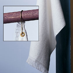 T68GH Towels Plus by Anvil Hemmed Hand Towel With Grommet