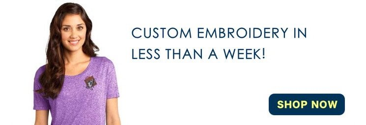Embroidered shirts and screenprinted t shirts for your for Customized t shirts no minimum order