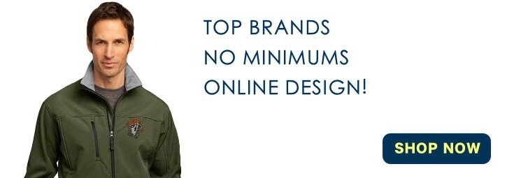 Top brands. No Minimums. Online design!