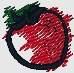strawberry embroidered design