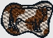 saddle bronc outline embroidered design