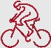 Custom Embroidered bicycle outline