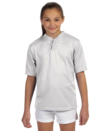 427 Augusta Sportswear Youth Wicking Two-Button Jersey