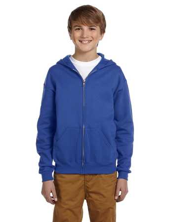993B Jerzees Youth Midweight 50/50 Fleece Full Zip Hood