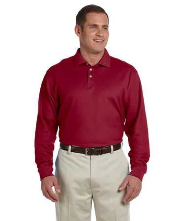D110 Devon and Jones Pima Cotton Long Sleeve Polo