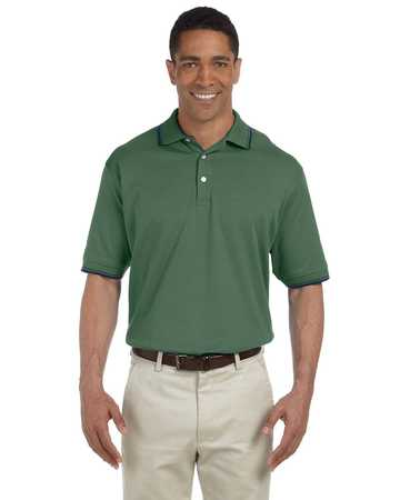 D140 Devon & Jones Perfect Pima Tipped Polo
