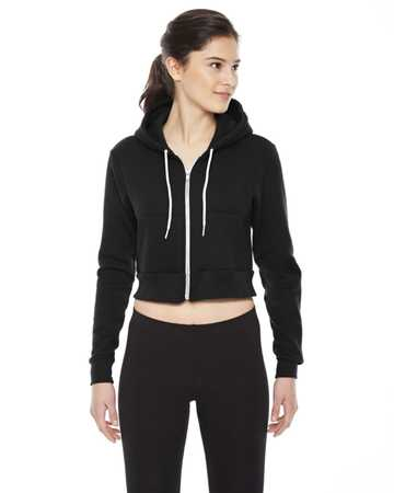 F397 American Apparel Ladies' Cropped Flex Fleece Zip Hoodie