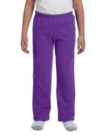 G184B Gildan Youth 7.75 oz. Heavy Blend™ 50/50 Open-Bottom Sweatpants
