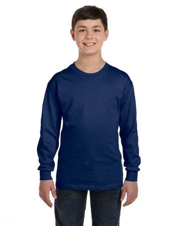 G540B Gildan Heavy Cotton™ Youth 5.3 oz. Long-Sleeve T-Shirt