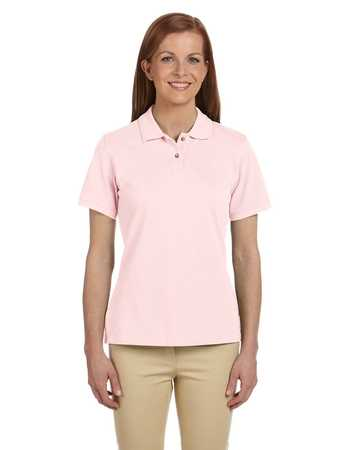 M200W Ladies Harriton Short Sleeve Pique Polo