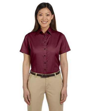 M500SW Harriton Ladies' Short-Sleeve Twill Shirt with Stain-Release