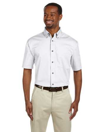 M500S Harriton Men's Short Sleeve Twill with stain release