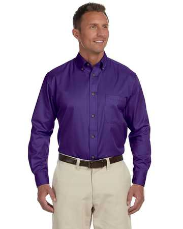 M500 Harriton Men's Long Sleeve Twill with stain release