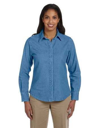 M550w Harriton Womens Long Sleeve Denim Shirt