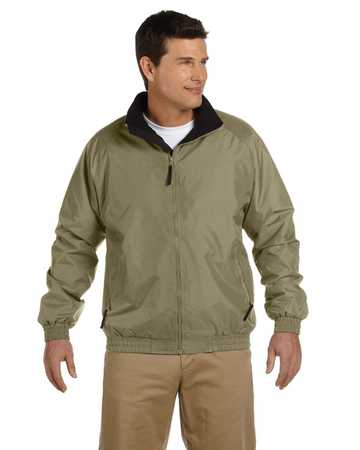 m740 Harriton Fleeced Lined Nylon Jacket