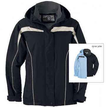 78019 North End Ladies 3-in-1 Jacket with Detachable Hood
