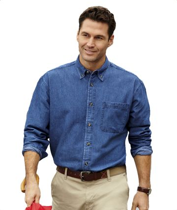 8960 Ultra Club Long Sleeve Cypress Denim with Pocket