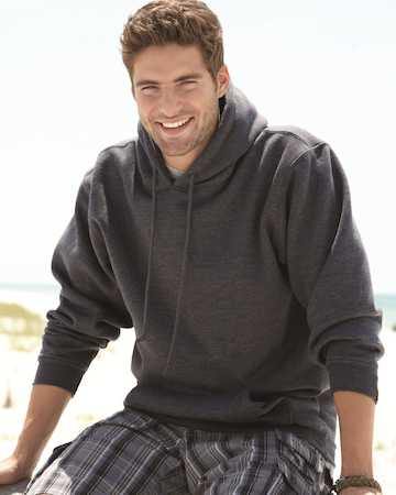 B960 Bayside Adult Hooded Blended Pullover Fleece