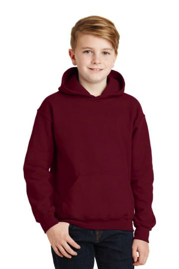 18500B Gildan Youth Heavy Blend Hooded Sweatshirt