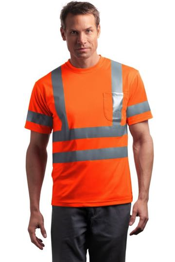 CS408 CornerStone® - ANSI 107 Class 3 Short Sleeve Snag-Resistant Reflective T-Shirt.