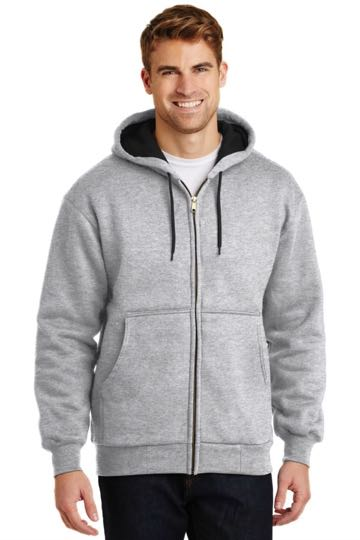CS620 CornerStone Heavywght Full Zip Hooded Sweatshirt with Thermal Lining