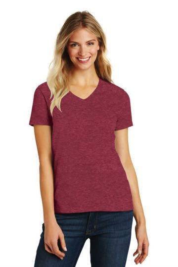 DM1190L District Made™ Ladies Perfect Blend® V-Neck Tee