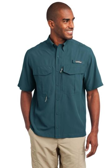 EB602 Eddie Bauer® - Short Sleeve Performance Fishing Shirt