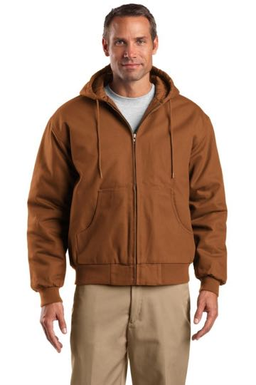 j763h Cornerstone Duck Cloth Hooded Work Jacket