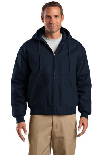 TLJ763H CornerStone® Tall Duck Cloth Hooded Work Jacket