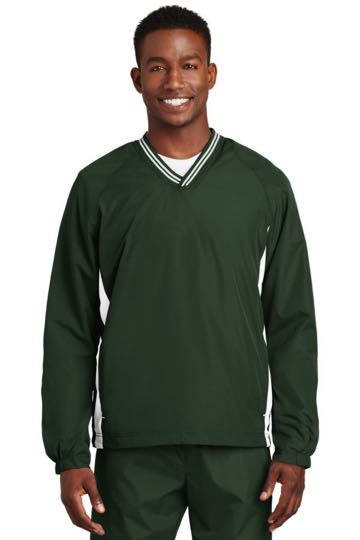 JST62 Sport-Tek® - Tipped V-Neck Raglan Wind Shirt