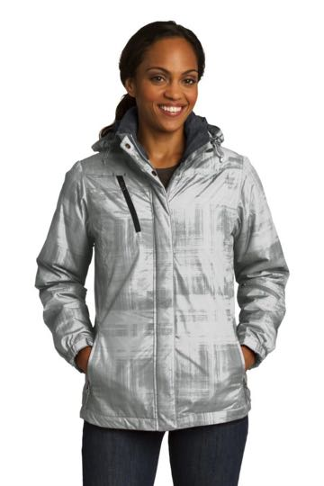 L320 Port Authority Ladies Brushstroke Print Insulated Jacket