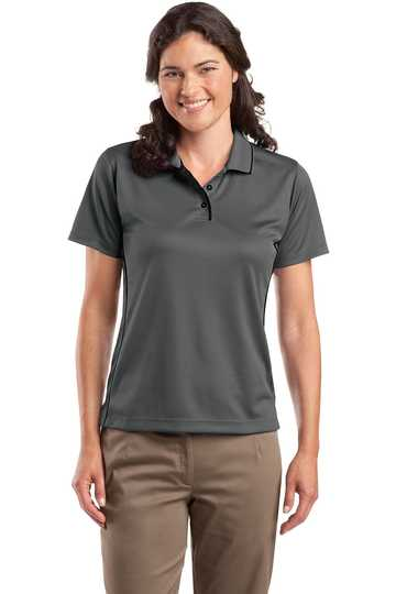 L467 Sport-Tek Ladies Dri-Mesh Sport Shirt w/ Piping